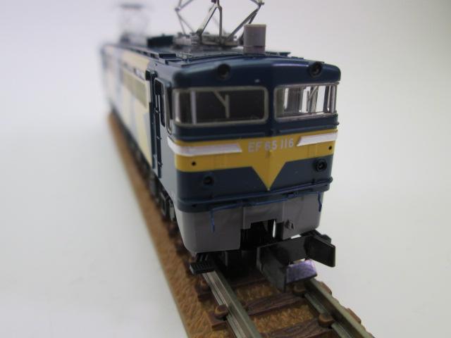 買取紹介:TOMIX 9199 JR EF65 0型電気機関車(116号機JR貨物試験色)先頭から