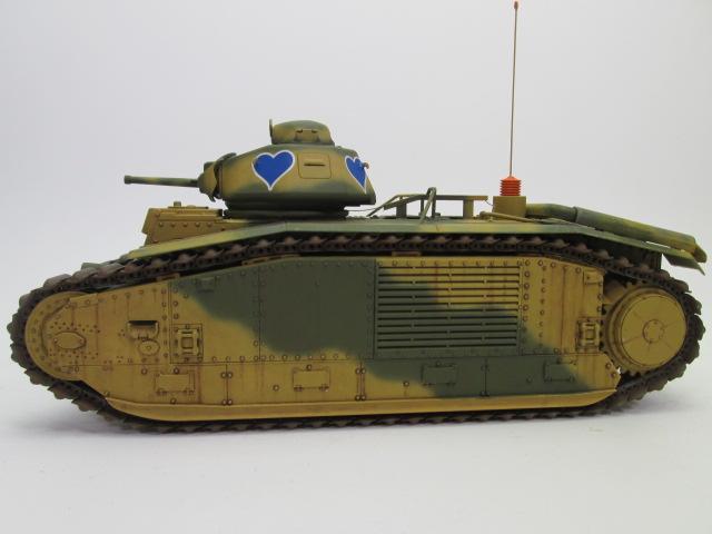 買取紹介:フランス戦車 b1bisの側面