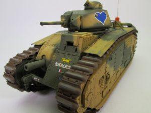 フランス戦車 b1bisプラモデル完成品を買取させて頂きました!