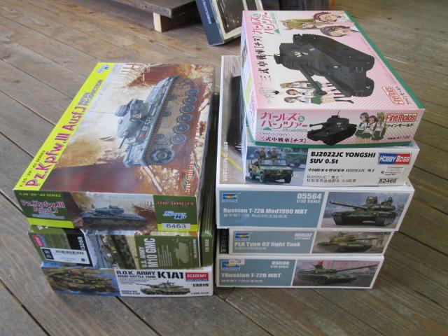 アカデミー製M10 GMC等の戦車プラモデルを買取させて頂きました!