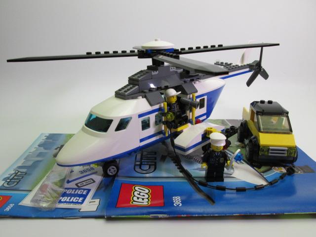 レゴシティポリスヘリコプターの追跡3658