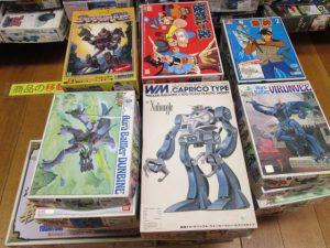アオシマ釣りキチ三平シリーズなど多数のプラモデルを買取致しました。