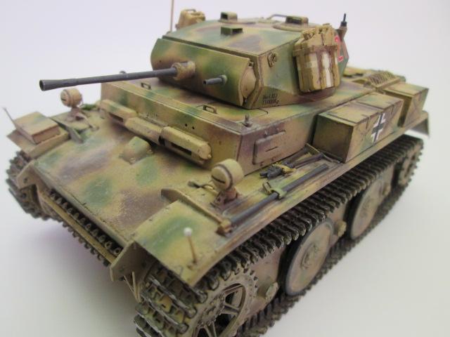 ドイツⅡ号戦車L型ルクス塗装済み作品のご紹介