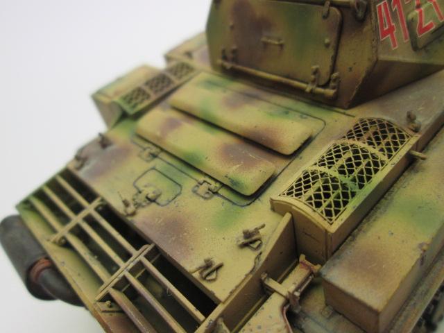 ドイツⅡ号戦車L型ルクス塗装済み エンジングリル