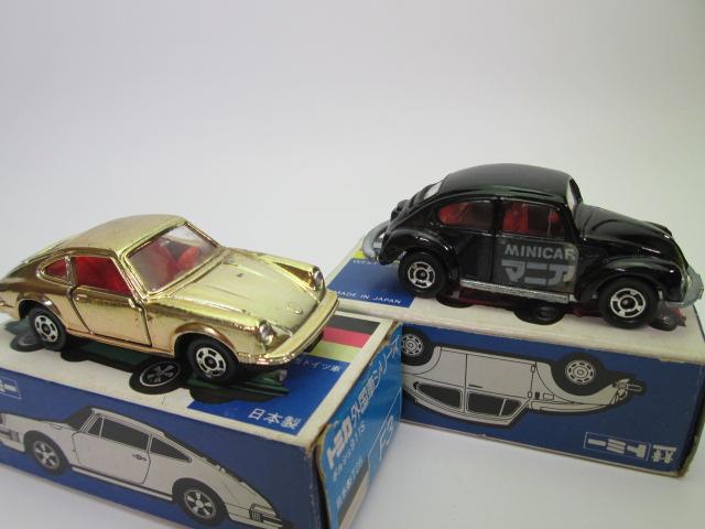 トミカ青箱、フォルクスワーゲン1200LSEとポルシェ 911S