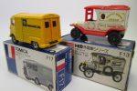 青箱トミカ、F17シトロエン HトラックとT型フォードF13