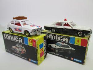 黒箱No.83ホンダ シビックGL ラリータイプとNo.4トヨタ クラウン パトロールカー