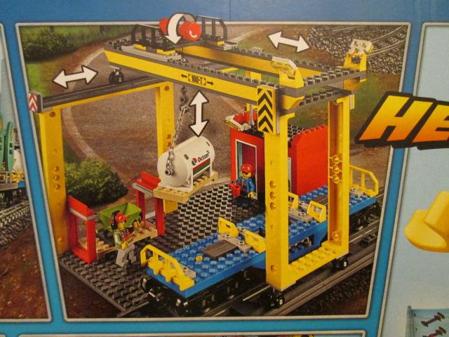レゴシティ60052カーゴトレイン クレーンの写真