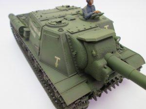 ソビエト自走砲 ISU-152 塗装済みプラモデル完成品を買取させて頂きました。