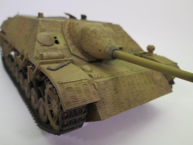 買取紹介、塗装済みのⅣ号駆逐戦車 砲塔ななめから