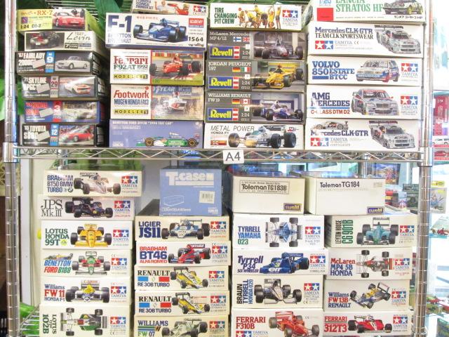 お売り頂いたタミヤ、レベルの車プラモデル(F1など)