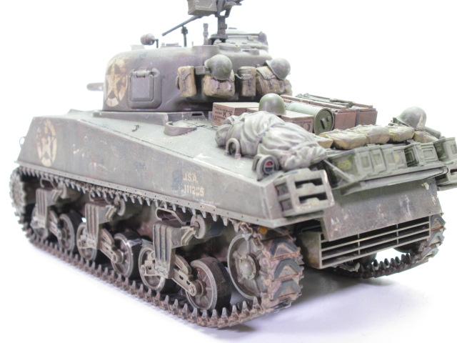 買取紹介:タミヤ 1/35 M4 シャーマン塗装済完成品のリア