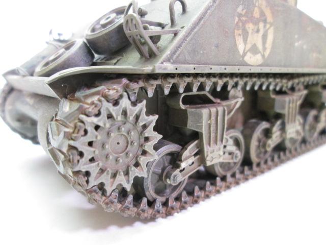 買取紹介:タミヤ 1/35 M4 シャーマン塗装済完成品の足回り