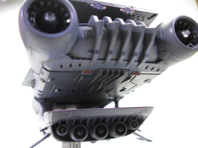 バンダイ1/1000ガイペロン級ランベア完成品 後部