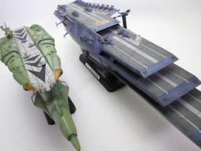 【動画あり】福岡県より宇宙戦艦ヤマト2199 ランベアとキスカのプラモデル完成品をお売り頂きました。