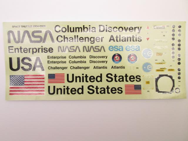 モノグラム 1/72 NASA SPACE SHUTTLEデカール