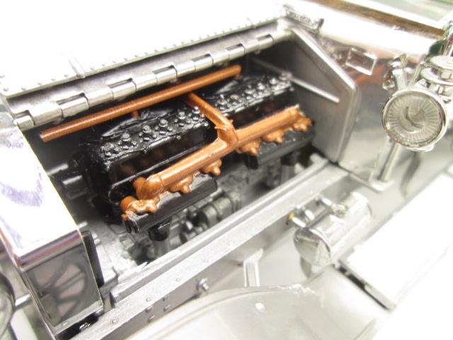 フランクリンミント 1/24 ロールスロイス 40/50HP シルバーゴースト 1907年 エンジン