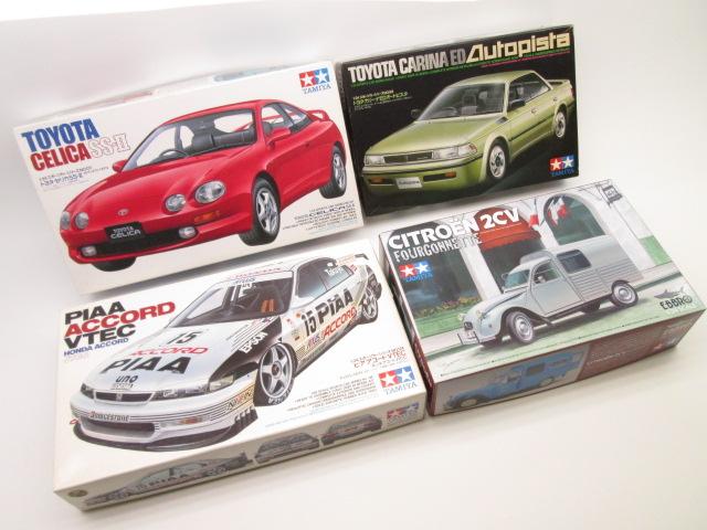 タミヤ1/24 ピアアコード、カリーナEDなど車のプラモデルを買取させて頂きました。