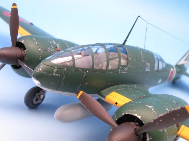 1/48 百式司令部偵察機 Ⅲ型 塗装済みプラモデル プロペラ