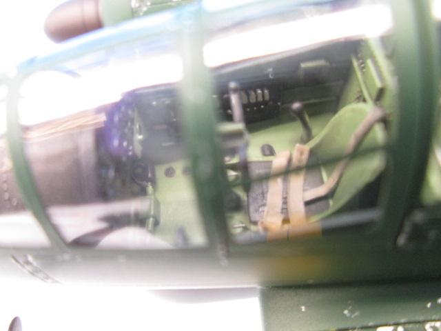 1/48 百式司令部偵察機 Ⅲ型 塗装済みプラモデル コックピットの塗り分け