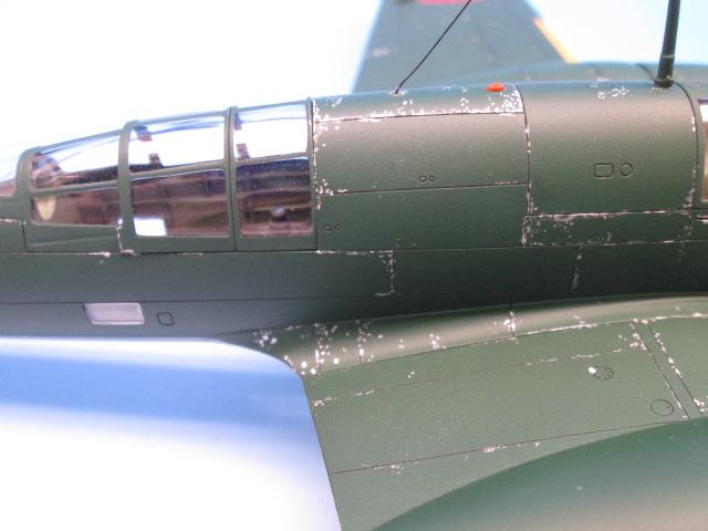 1/48 百式司令部偵察機 Ⅲ型 塗装済みプラモデル チッピング