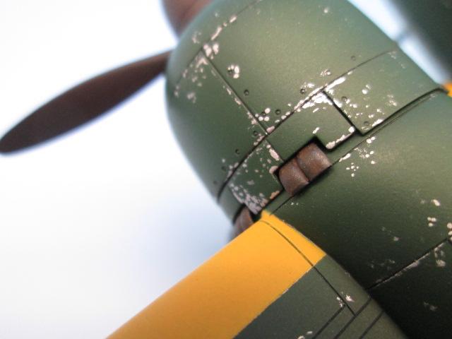 1/48 百式司令部偵察機 Ⅲ型 塗装済みプラモデル チッピング・サビ加工