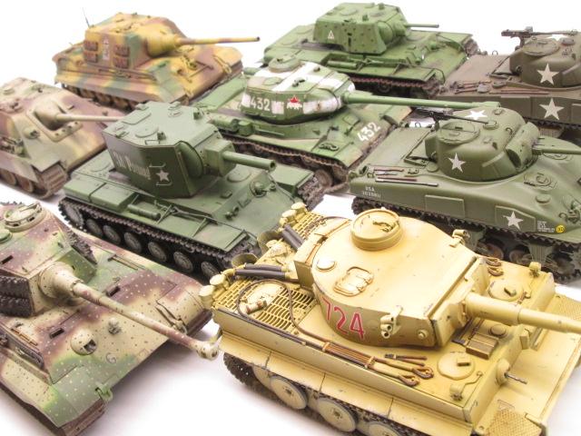 タミヤ 1/48 MMシリーズの塗装済み戦車を多数お売り頂きました。