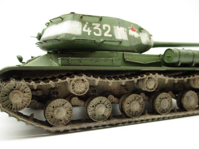 タミヤ 1/48 ソビエト重戦車JS-2 ウェザリング