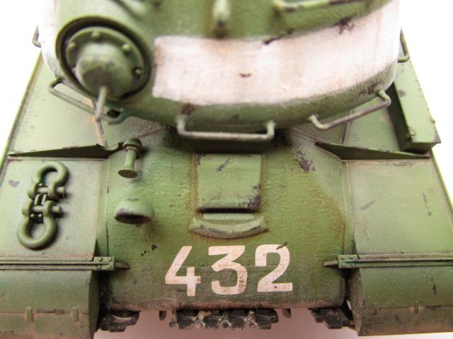 タミヤ 1/48 ソビエト重戦車JS-2 塗装