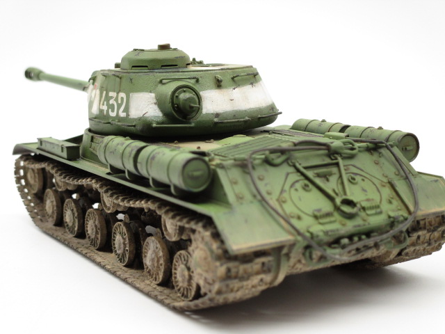 タミヤ 1/48 ソビエト重戦車JS-2 後部