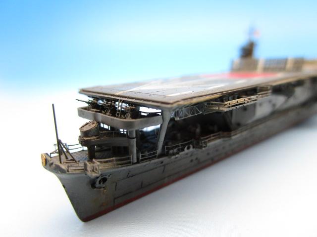 1/700 航空母艦 蒼龍 塗装済完成品 船首