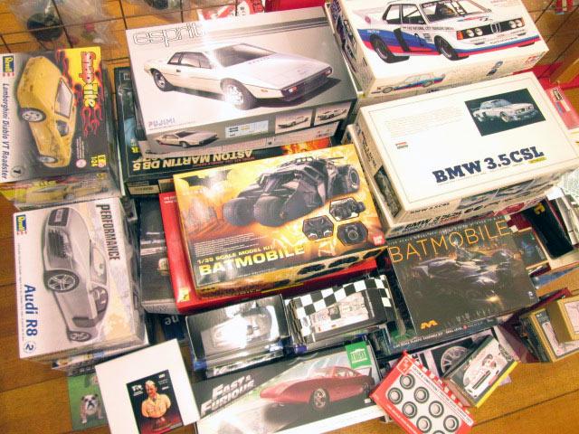 童友社、レベルなど自動車のプラモデルが多数