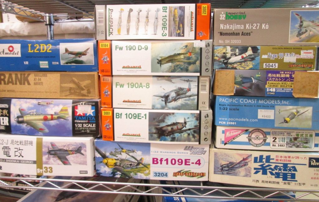エデュアルドやレベルなどの飛行機プラモデル