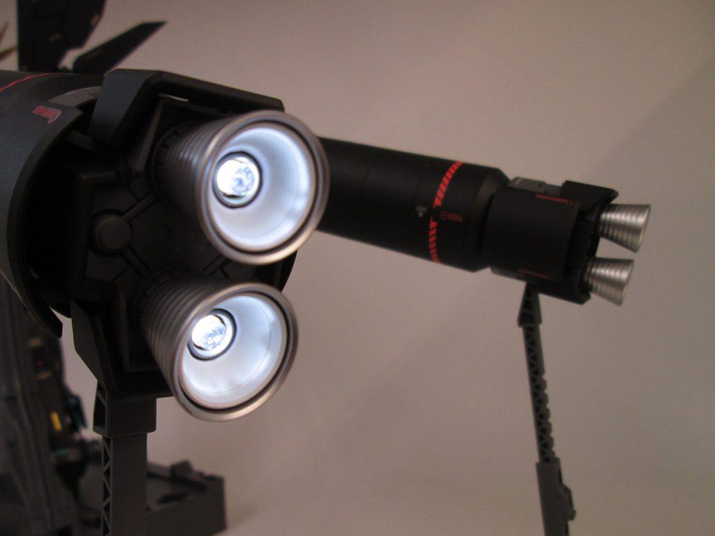 PG 1/60 バンシィ・ノルン塗装済み完成品 スラスターLED発光状態