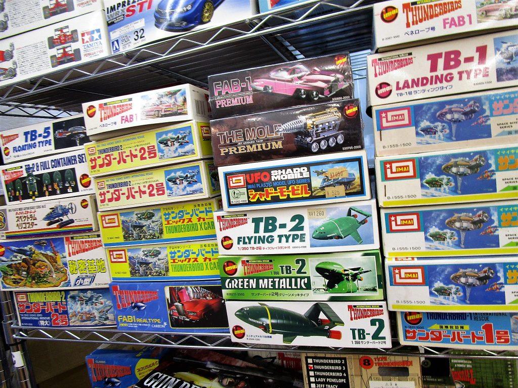 サンダーバード5号やエックスカーやFAB1、ジェットモグラのプラモデル