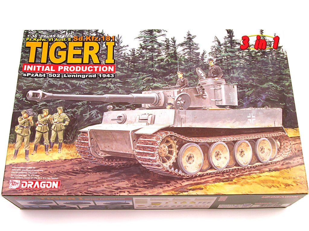 買取紹介:ドラゴン 6252 1/35 Sd.Kfz.181 タイガーⅠ 極初期型第502重戦車大隊 レニングラード1943