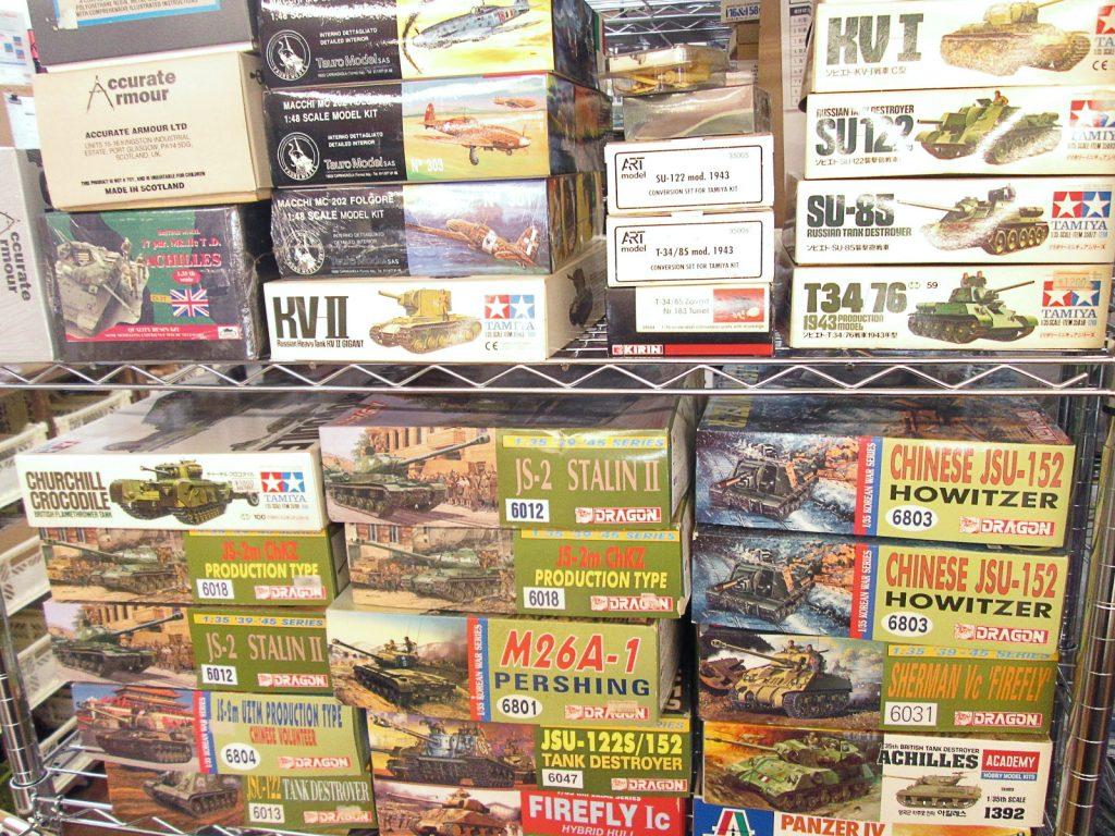 東京都より戦車のプラモデルを買取させて頂きました!