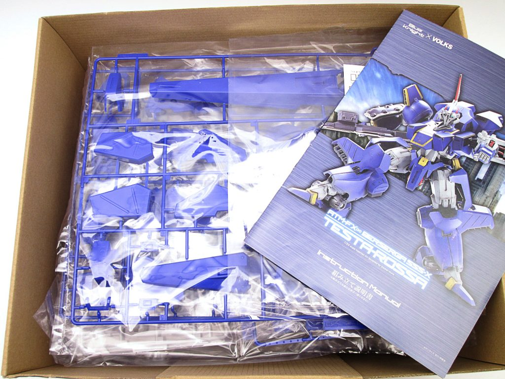 買取紹介:Blue Knight & Volks 1/24 ATM-FX∞ BERSERGA SSS-X テスタロッサのキット内容