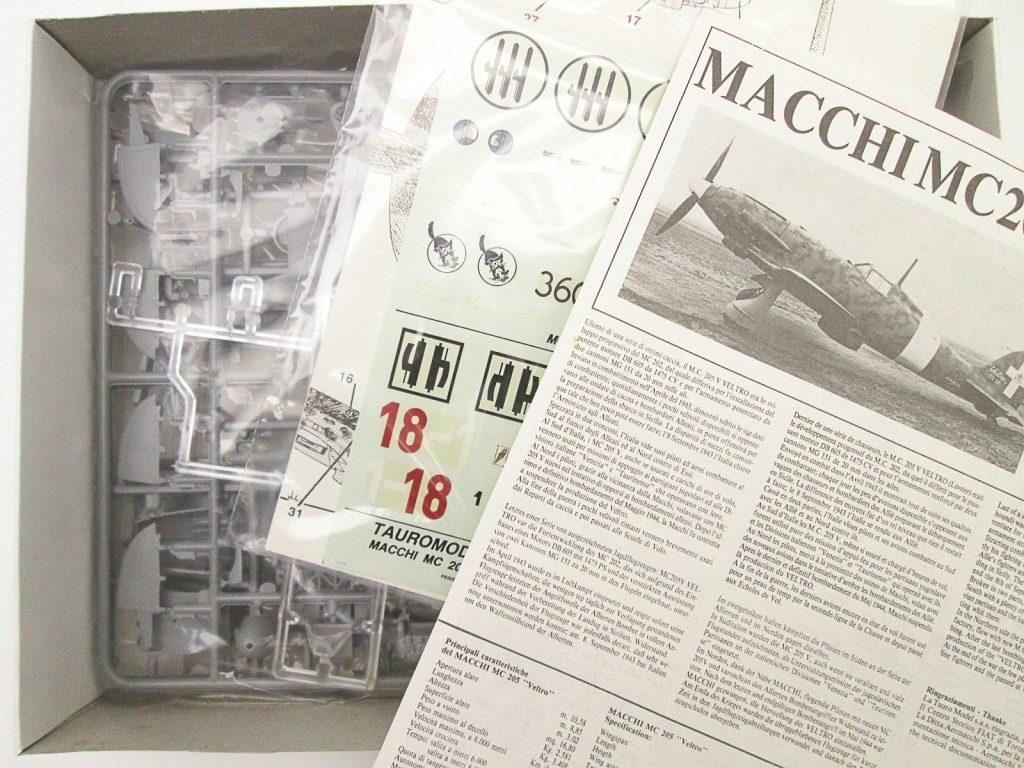 買取紹介:タウロモデル 1/48 マッキ MC 205のキット内容