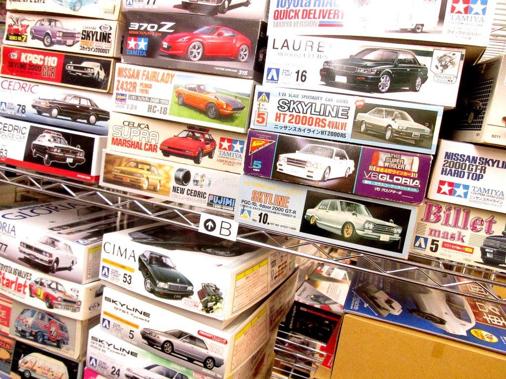 日東やマルイなど、懐かしの乗用車やレーシングカーのプラモデルを兵庫県姫路市より買取り頂きました!