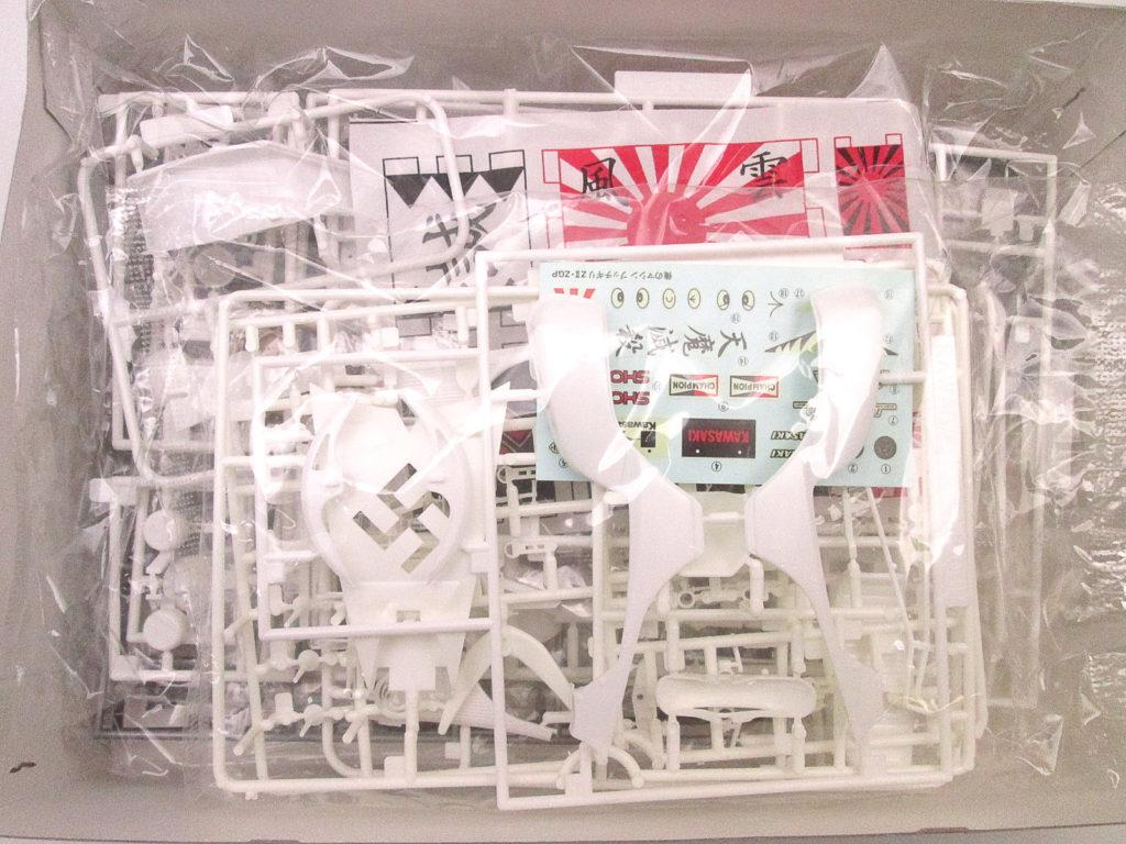 アオシマ 1/12 必殺偏 三代目 Z400FX 俺のマシンシリーズ キット内容
