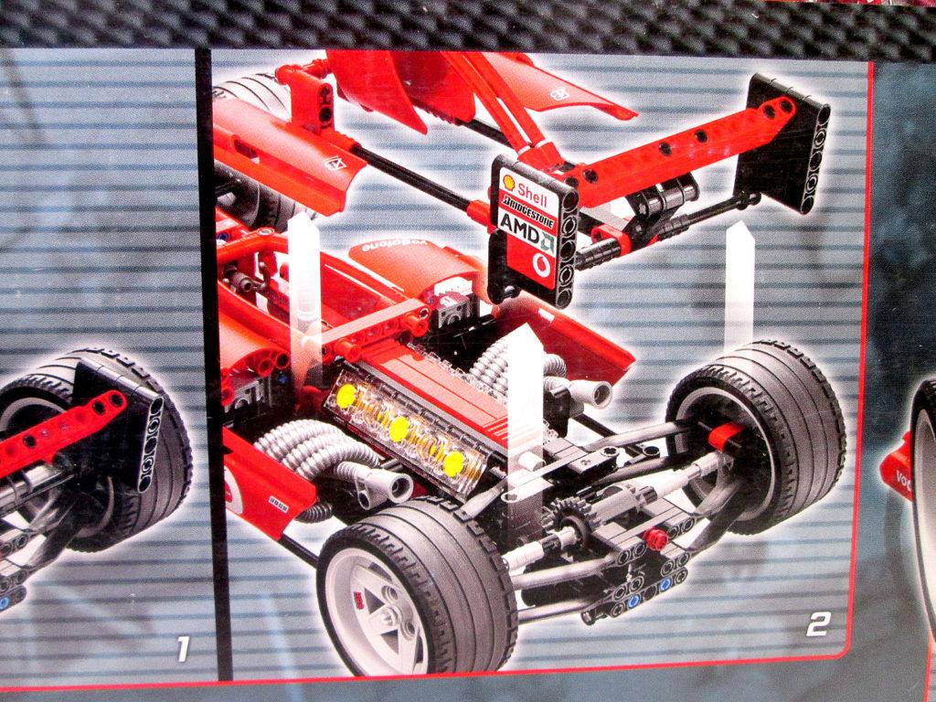 レゴ/LEGO レーサー 8386 1/10 フェラーリ F1レースカーのエンジン部分