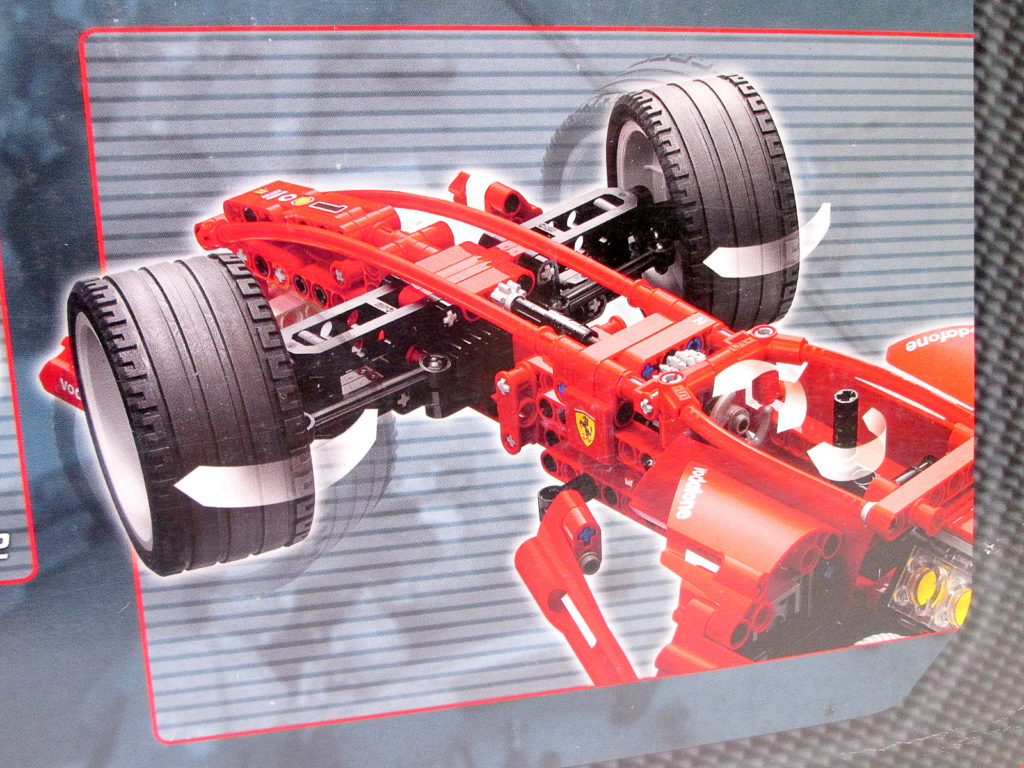レゴ/LEGO レーサー 8386 1/10 フェラーリ F1レースカーの前輪部分