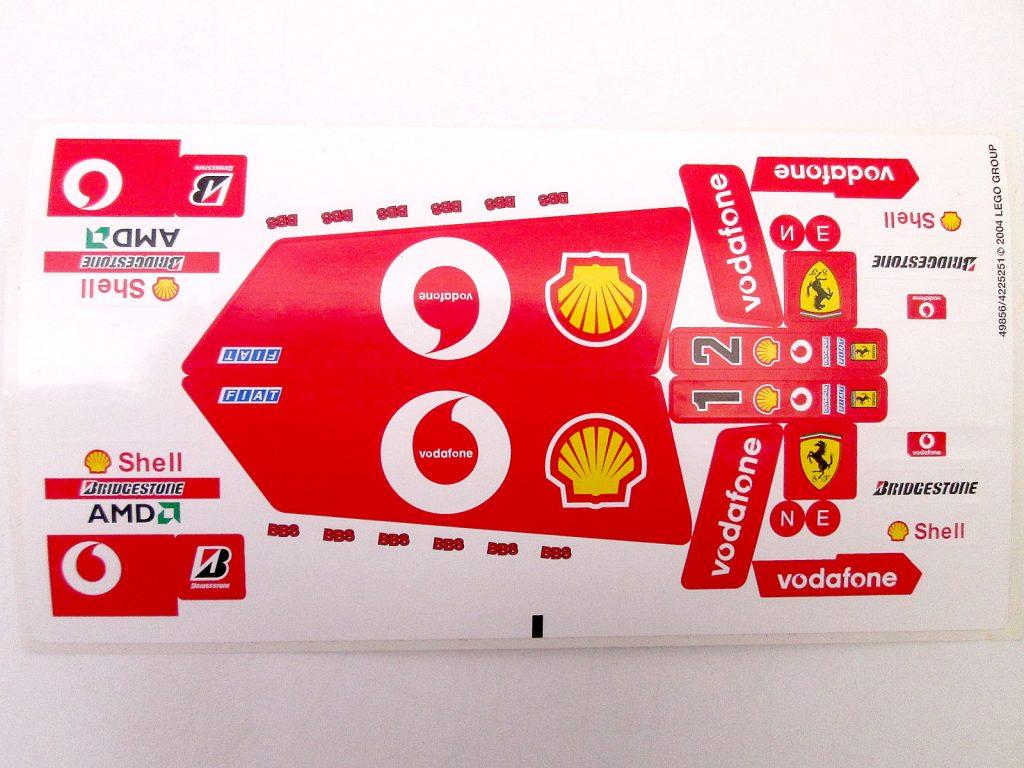 レゴ/LEGO レーサー 8386 1/10 フェラーリ F1レースカーのロゴシール