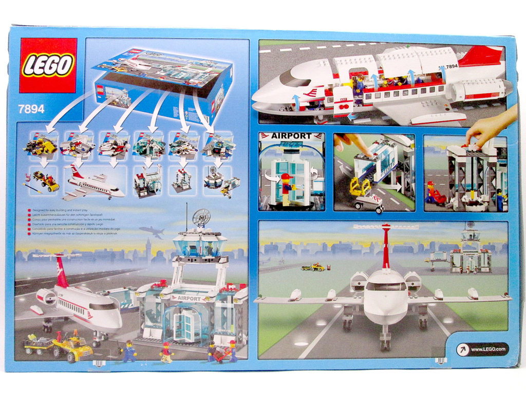レゴ/LEGO シティ 7894 空港 ANAバージョン パッケージ裏