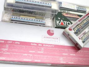 KATO スイス国鉄ユーロシティなど海外車両のNゲージを買取頂きました!