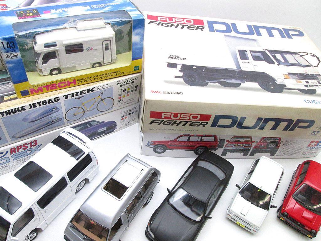 青森県よりふそうファイター強化ダンプなどのプラモデルを買取頂きました!