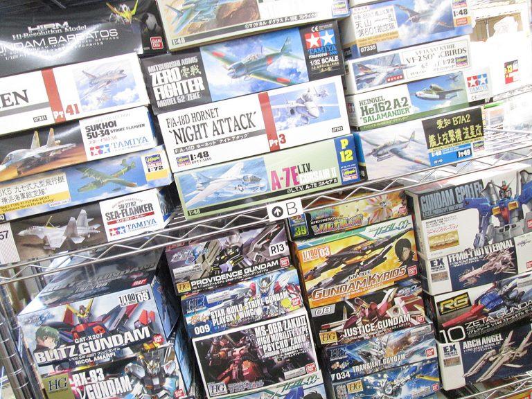 ガンプラから飛行機プラモデルまで幅広いコレクションを東京都府中市より買取り頂きました!