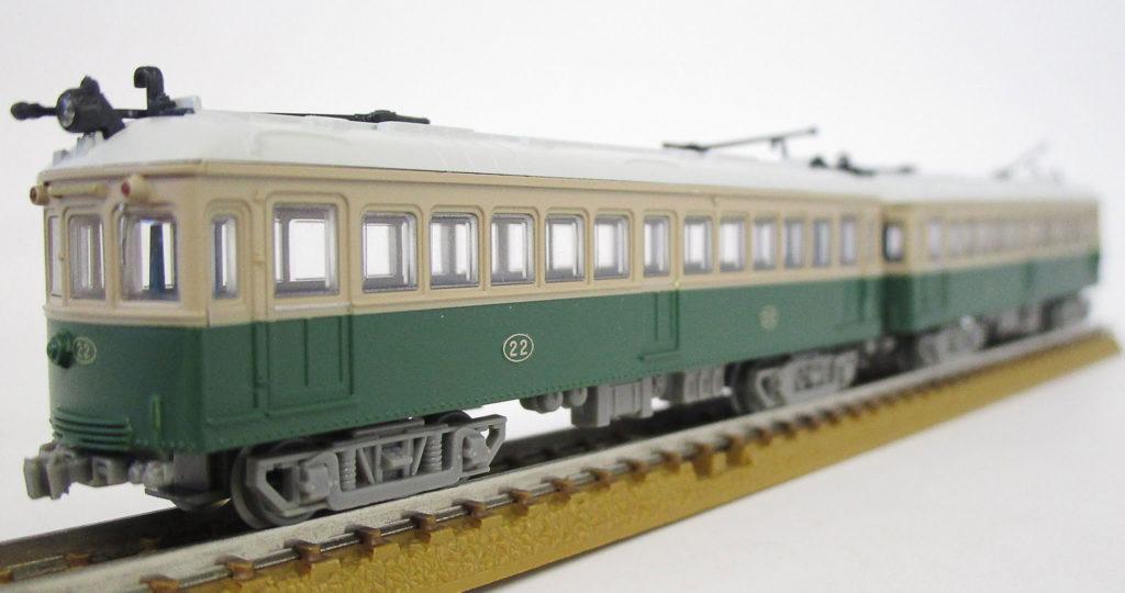 トミーテック 叡山電鉄 デナ21型 ポール仕様2両セット 車両の写真