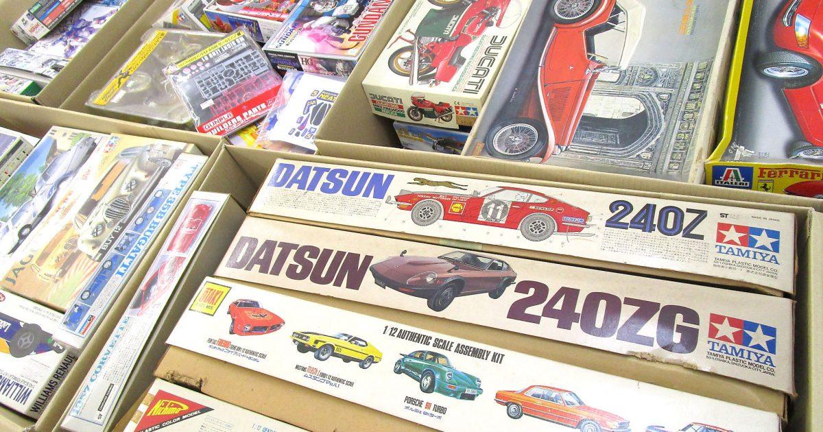 静岡県より自動車やミニ四駆、ガンプラ等のプラモデルを沢山買取させて頂きました!